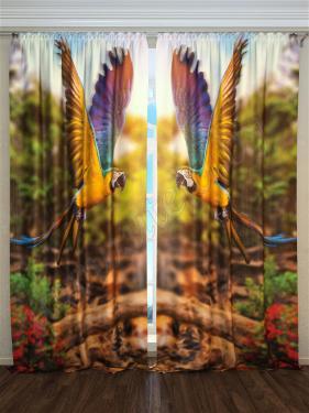 Фотошторы «Летящие ары» арт. S30101 H260