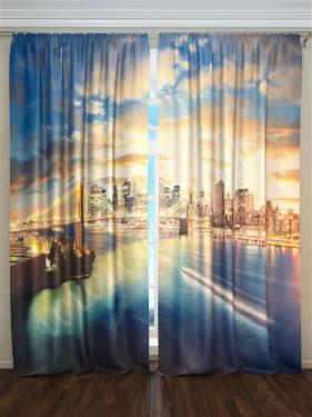 Фотошторы «Манхэттен. Лучи заката» арт. S9022 H260