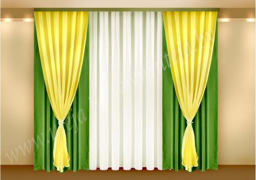 Мираж - зелёный с жёлтым