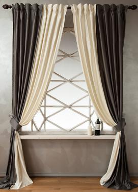 Пример штор из шанзелизе