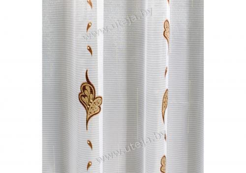Рисунок вуали с вышивкой