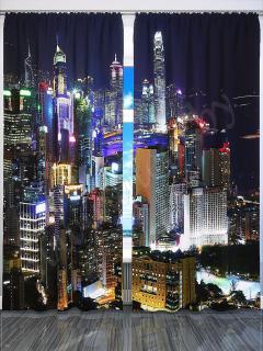 Фотошторы «Ночной Гонкгонг» арт. S2226 H260