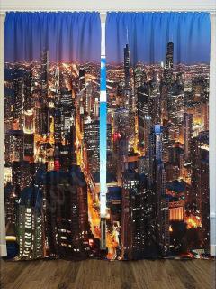 Фотошторы «Ночной город» арт. S2208 H260
