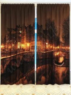 Фотошторы «Ночные огни» арт. S2796 H260