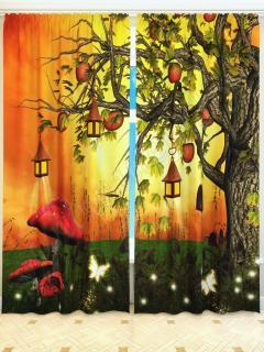 Фотошторы «Волшебные фонарики» арт. S4374 Блекаут H280