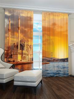 Фотошторы «Закат над Босфором» арт. S30147 H260