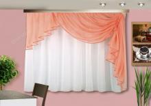 Кухонная штора цвет оранжевый